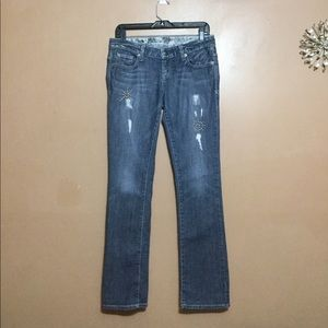 Guess Stretch Embezzled Denim Jeans | size 28